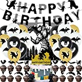 Birthday Party Supplies, Happy Birthday Banner Decorations, King of the Monsters Themed Birthday party Supplies for Kid's Party, Cupcake Toppers, Latex Balloon Decorations, Baby Shower Decorations