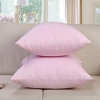 AQGELBZ Núcleo de Almohada Rosa Blanco Cuadrado Simple núcleo de Almohada de Alta Elasticidad núcleo de cojín de sofá @ Rosa (Relleno de algodón de Siete Agujeros) _40 * 40 cm