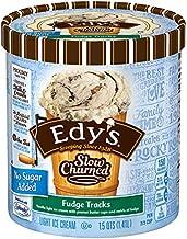 Edy's, Slow Churned, No Sugar Added Fudge Tracks Ice Cream, 1.5 qt (Frozen)