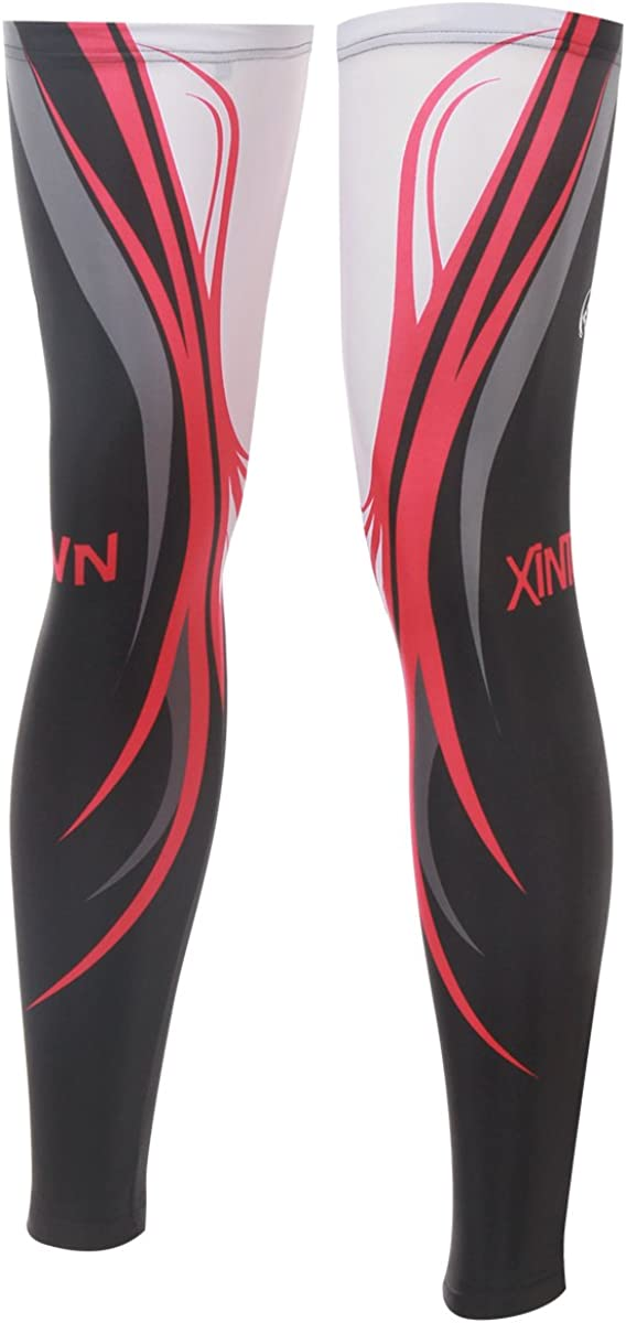 Ophelia Outdoor Blue Red Cycling Max 83% OFF Shiel Sleeves Leg Store Guard Bicycle