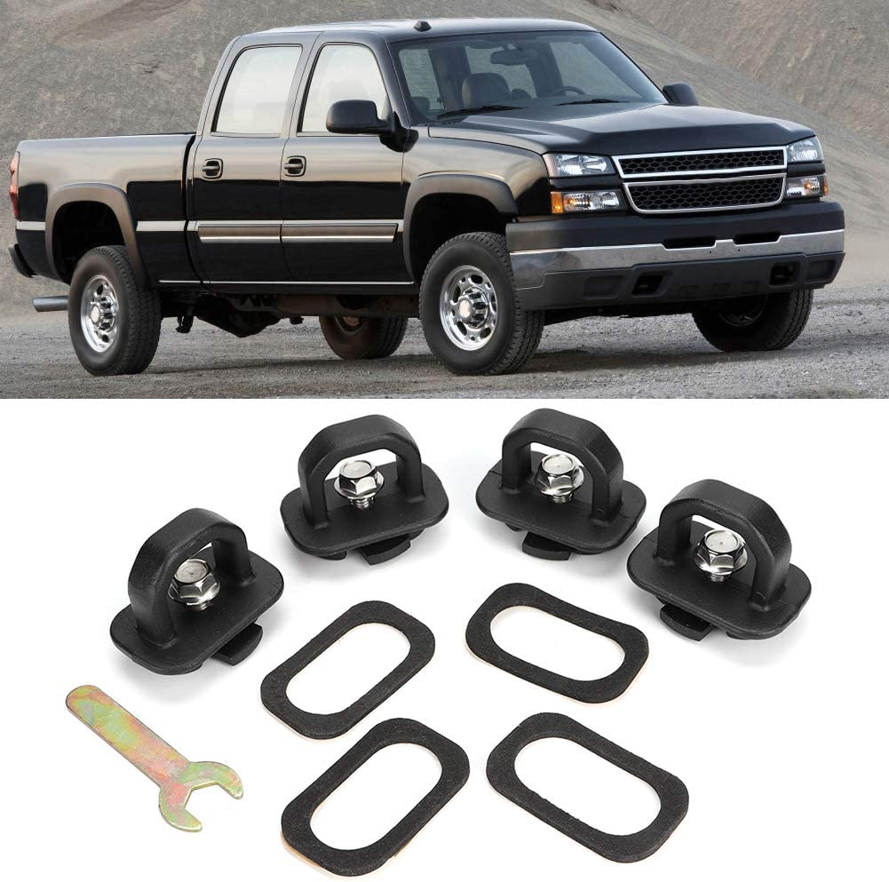 4pcs Tie Outlet ☆ Free Shipping Down Anchors Truck Bed Silver Wall Anchor Fits Max 41% OFF Side for