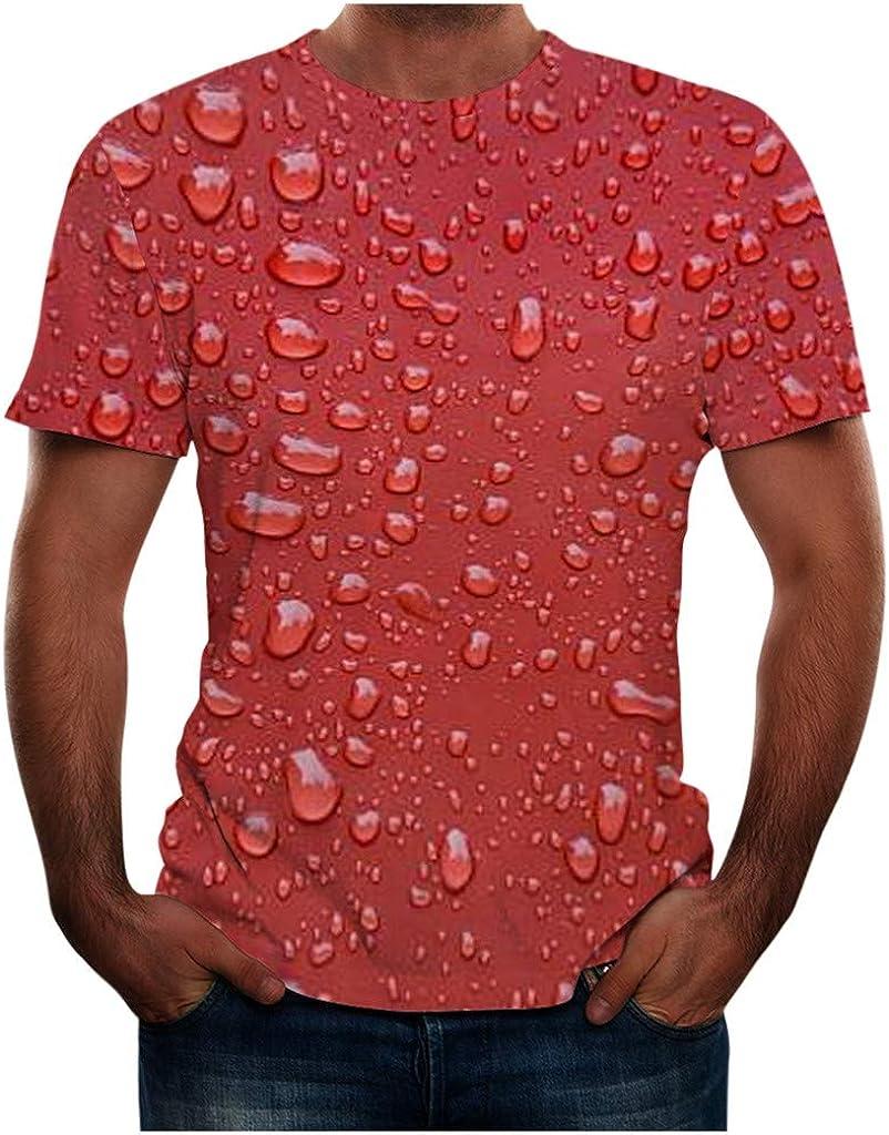 SERYU Men's Summer 3D Printed Short Sleeves Fashion Comfort Blouse Top