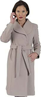 Coat Man 7/8 Length Belted Coat Shawl Collar Concealed Buttons (Belt can be Removed)