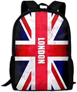 London-uk-flag-union-jack-uk Print Custom Casual School Bag Backpack Multipurpose Travel Daypack