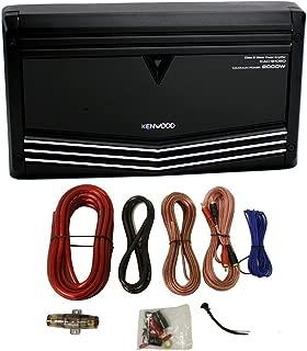 Kenwood KAC-9106D 2000W Monoblock Class D Car Audio Power Amplifier + Amp Kit