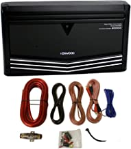 Kenwood KAC-9106D 2000W Monoblock Class D Car Audio Power Amplifier + Amp Kit