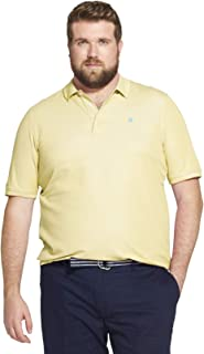 IZOD Men's Big and Tall Advantage Performance Short Sleeve Solid Heather Polo