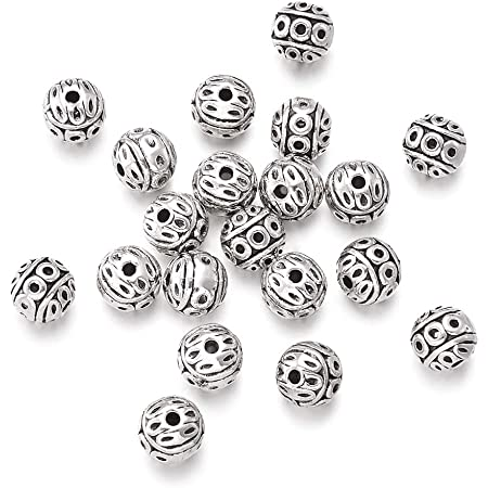 12 New Charms Tibetan Silver Tone Round Cross Flat Spacer Beads 10mm