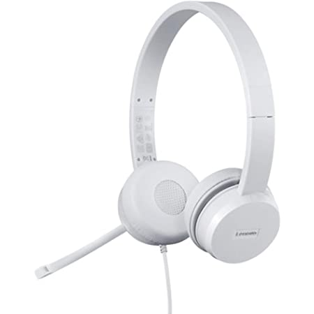 Amazon.com: Lenovo 110 USB Stereo Headset, Noise Canceling, Adjustable Boom Mic for Right/Left Ear, Long Cable, Works with Chromebook, GXD1B67867, Silver : Electronics