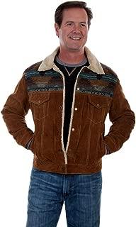 Scully Men's Cafe Boar Suede Jean Jacket Big - 1015-125-Brn-B