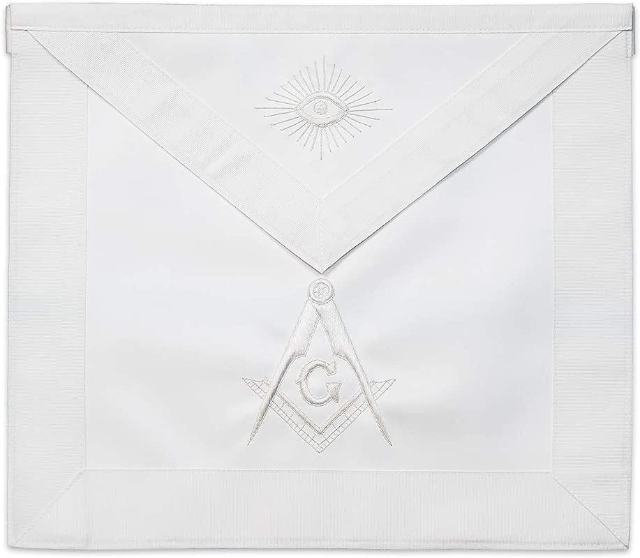 White Master Mason Masonic Apron