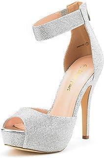 Women's Swan-05 High Heel Plaform Dress Pump Shoes