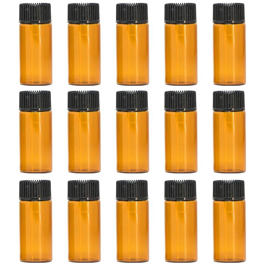 繁栄ピッチャー経験者アロマオイル 精油 遮光瓶 遮光ビン ガラスボトル ガラス製 エッセンシャルオイル 保存用 保存容器詰め替え 茶色 ブラウン (5ml?15本セット))予備入り