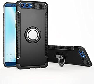 Honor View 10 / V10 Case, Mingwei [with 360 ° Kickstand] Rotating Ring Case [Dual Shockproof] Protection Cover Compatible with [Magnetic Car Mount] for Huawei Honor View 10 (Black, View 10 /V10)
