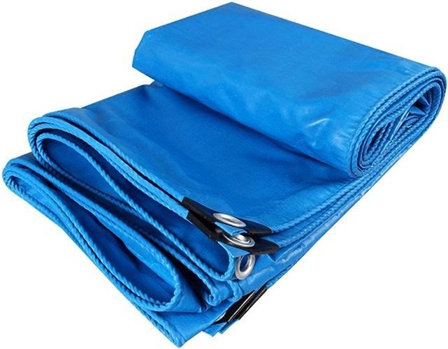 Zm Bache résistante imperméable à l'eau, Feuille de bache résistante à l'usure UV de Prougeection de PVC Bleue UV-prougeégée pour des camionnettes, Tailles Multiples (Taille   3mx3m)