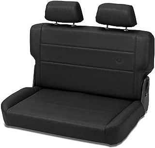 Bestop 39440-15 TrailMax II Fold and Tumble Black Denim All-Vinyl Rear Bench Seat for 1955-1995 CJ5, CJ7 and Wrangler YJ