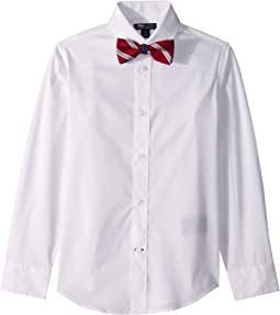 Stretch Solid Shirt with Bowtie (Big Kids)
