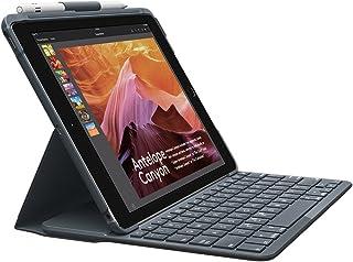 ロジクール iPad用 キーボード iK1053BK ブラック Bluetooth キーボード一体型ケース iPad 第5世代及び第6世代対応 電池寿命最大4年間 SLIM FOLIO 国内正規品 2年間メーカー保証