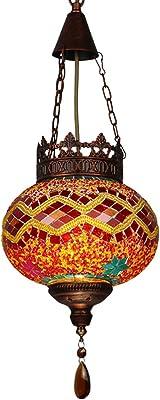 8-inch pendent lamp, Tiffany Style Chandelier, European Minimalist Glass Decoration pendent Light