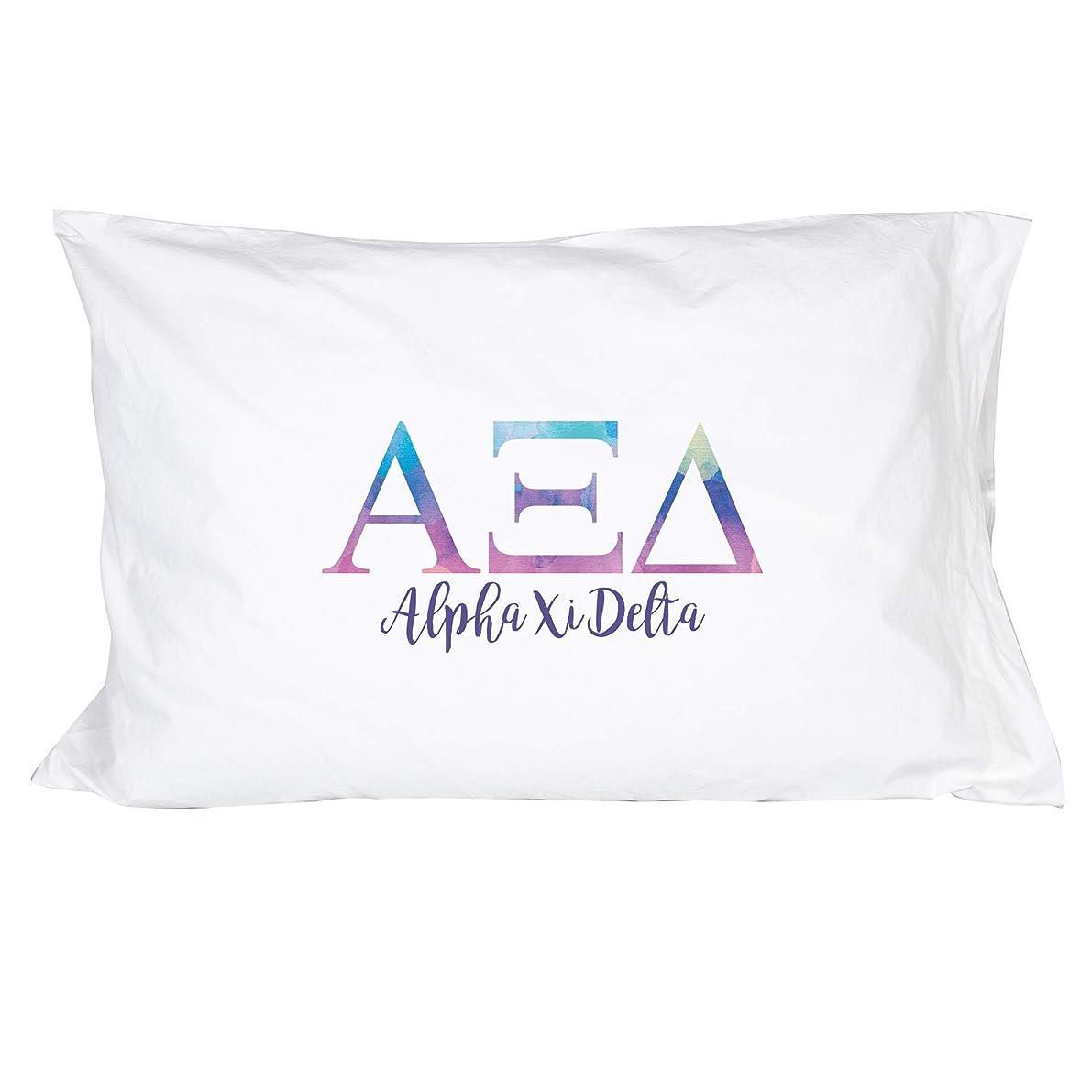 Desert Cactus Alpha Xi Delta Sorority Water Color Pillowcase 300 Thread Count 100% Cotton