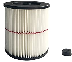 Zerich Craftsman 9-17816 Vacuum Cartridge Filter, 8.5 Inches - White/Red#7859