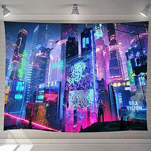 DBLLF Punk Art Poster Tapestry Cityscape Ta 贈答 Futuristic- オープニング 大放出セール Japanese