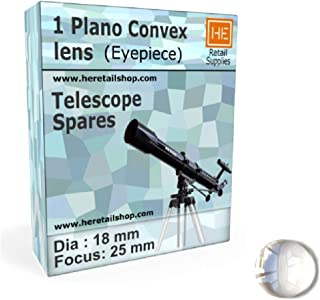 RETAIL SUPPLIES 1 Plano Convex Lens Dia 18 mm, Focus 25 mm, Optics Experiments Telescope Eyepiece