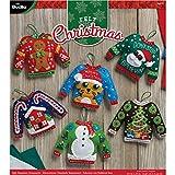 Bucilla BUC Felt Kits 6 Orns Ugly Sweaters