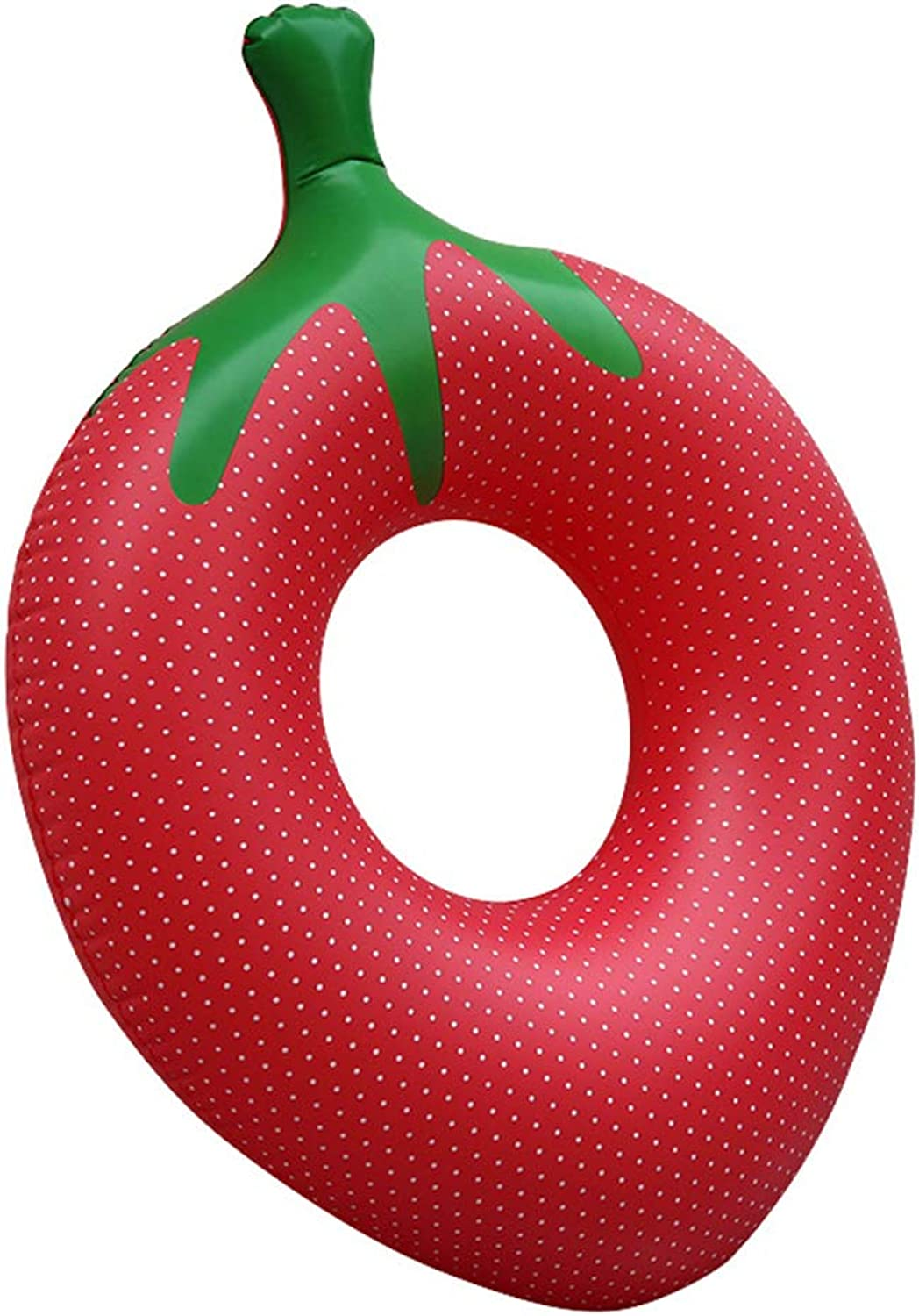 Inflatable Pool Float Strawberry Swim Tube Raft with Rapid Valves Summer Beach Swimming Pool Party Lounge Decorations Toys for Adults & Kids