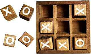 TOYANDONA Tic Tac Toe Game for Kids Adults XO Game Wood Coffee Tables Family Games 3D Board Games Travel Games Preschool S...