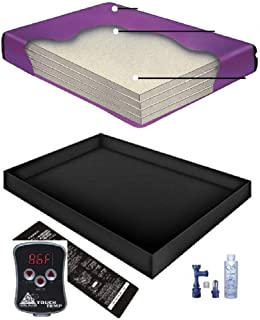 Waterbed 18 Mil Smooth Vinyl Wood Frame Water Mattress by The Waterbed Doctor 9254 RXE Queen