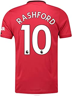 Rashford # 10 Man United 2019-2020 Home Mens Jersey Red