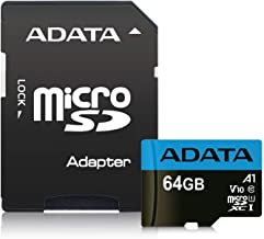 ADATA Premier 64GB MicroSDHC/SDXC UHS-I Class 10 V10 A1 Memory Card with Adapter Read up to 100 MB/s (AUSDX64GUICL10A1-RA1)