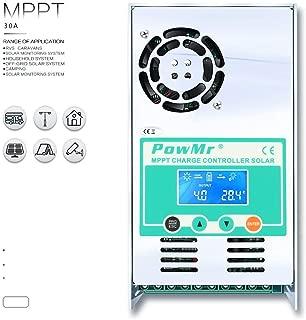 PowMr MPPT Charge Controller 60 amp 48V 36V 24V 12V Auto - Max 190VDC Input LCD Backlight Solar Charge for Vented Sealed Gel NiCd Lithium Battery?Software Update Version?(MPPT-60A)