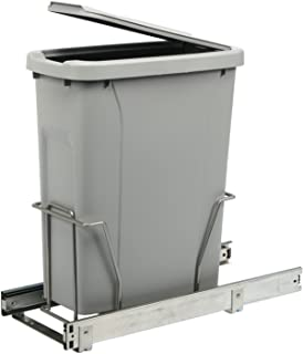 Knape & Vogt PLSW9-1-20-R-P in-Cabinet Pull Out Trash Can, 17.75-Inch by 8.11-Inch by 20-Inch