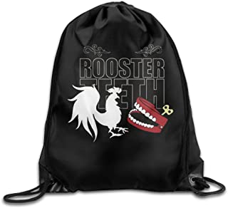 Creative Design RT Rooster Teeth Drawstring Backpack Sport Bag For Men And Women