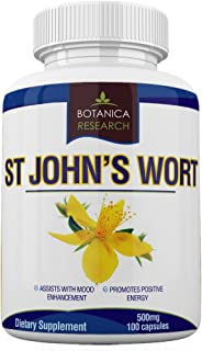 Sponsored Ad - St John's Wort Extract Supplement: 500mg Vitamin Herb for Mood, Serotonin, Dopamine, and Anxiety Relief Sup...