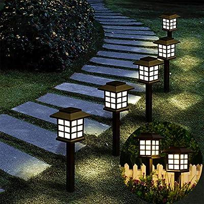 6 Pack Solar Pathway Lights Outdoor YUFIFAIRY Garden Lights