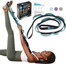 A AZURELIFE Stretch Strap with 11 Loops, Elastic Stretching Strap Band - Stretch Tool for Yoga Physical Therapy, Dance and...