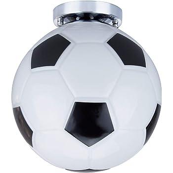 Lámpara colgante de cristal de fútbol, lámpara de fútbol semi ...