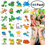 Unomor 144 Stück 2x2zoll Dino Kinder Tattoo Set für Dinosaurier Party Lieferungen, Kinder...