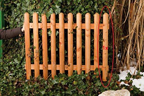 Gartenwelt Riegelsberger Premium Zaunlatte Typ C aus Lärchenholz 27x60 mm, Höhe 100 cm nordische Lärche Oben gekegelt, halbrund