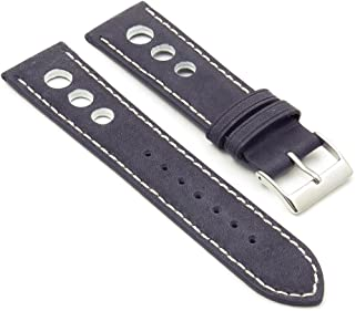 DASSARI Distressed Leather GT Rally Racing Watch Strap