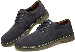 Casual shoes. Men Classic Work Shoes Lace up Business Casual Suede Upper Low Heel Anti-skid Rubber Outsole Round Toe (Color : Brown, Size : 47 EU)