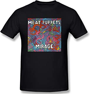 JohnnyKJayTee Men's Meat Puppets Mpt Huevos Cotton T Shirts Colornam with Creative Printed Short Sleeve