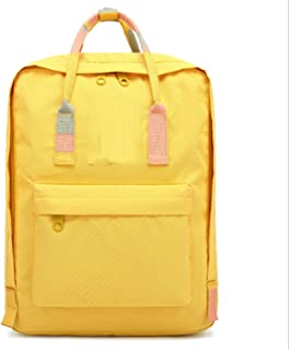 Casual Backpack,Waterproof Anti-Theft Laptop Backpack,Travel Daypack School Satchel for Teenage Girls Boys Yellow