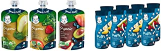 Sponsored Ad - Gerber Purees Organic 2nd Foods Baby Food Fruit & Veggie Variety Pack, 3.5 Ounces Each, 18 Count & Puffs Ce...