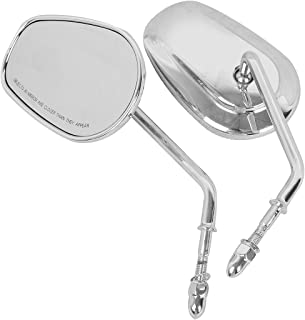 Mini Oval Motorcycle Mirrors for Sportster XL883 1200 X48 72 Touring Dyna Softail Electra Glide Road King DREAMIZER 8mm Motorcycle Rearview Side Mirrors