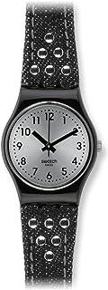 Swatch Women's LB171 Rock Rivet Year-Round Analog Quartz Black Watch