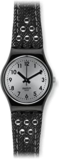 Swatch Women's LB171 Rock Rivet Year-Round Analog Quartz Black Watch